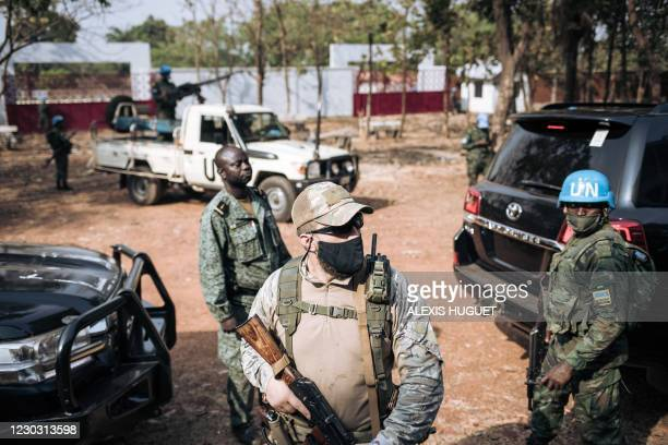 Rwandan peacekeeper of the United Nations Multidimensional Integrated Stabilization Mission in the Central African Republic , a private Russian...