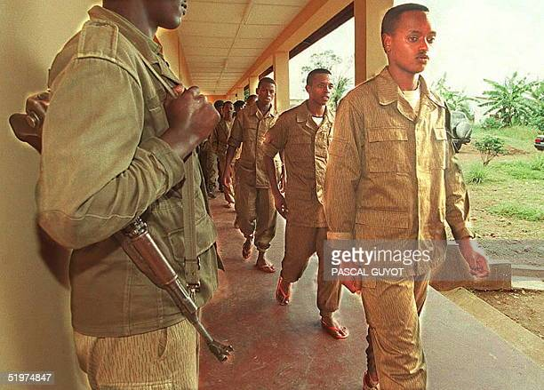 Rwandan soldiers of the Rwandan Patriotic Army the Tutsidominated Rwandan Patriotic Front which seized power in July 1994 after three months of civil...