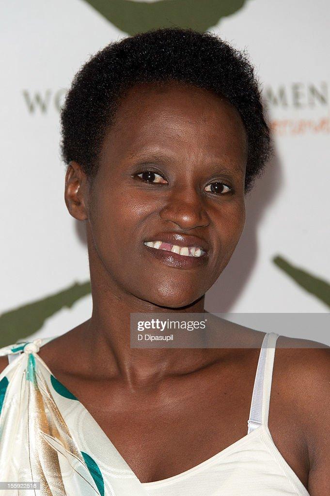 Rwandan Women for Women International graduate Francoise Tumukunde attends the 2012 Women For Women International gala at Koch Theater, Lincoln Center on November 8, 2012 in New York City.