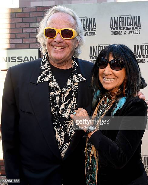 Ry Cooder and Buffy SainteMarie attend the 14th annual Americana Music Association Honors and Awards Show at the Ryman Auditorium on September 16...