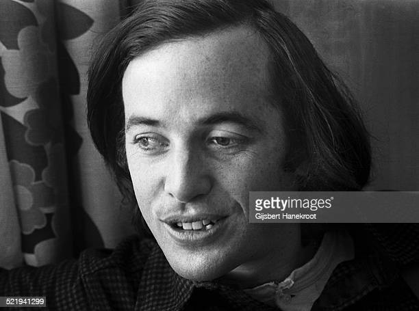 Ry Cooder being interviewed in his hotel room in Amsterdam Netherlands in 1973
