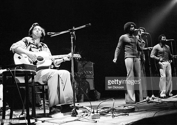 Ry Cooder performing on stage at Hammersmith Odeon London 29 January 1977