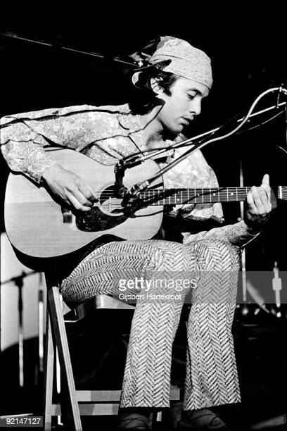 Ry Cooder performs live on stage in Amsterdam Holland in 1973
