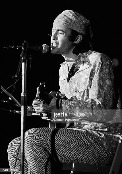 Ry Cooder performs on stage on the 'Pop Gala' TV show Voorburg Netherlands 10th March 1973