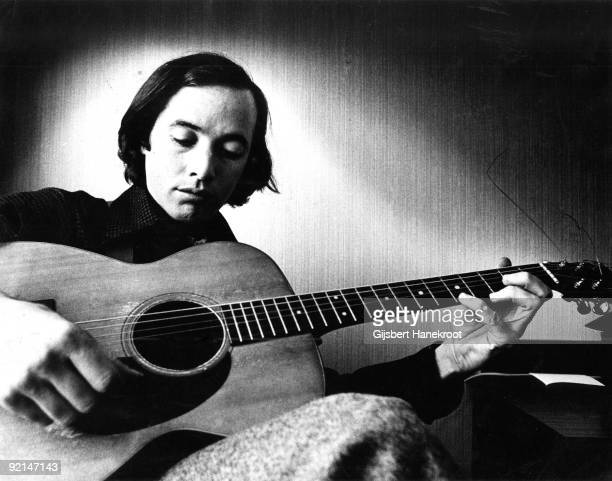 Ry Cooder plays his guitar in Amsterdam Holland in 1973