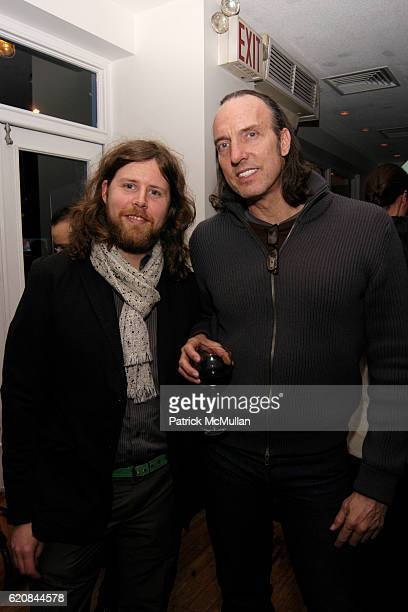 Ry Rocklen and Maynard Monrow attend Whitney Biennial Artists Party at Trata Estiatoria on March 8 2008 in New York City