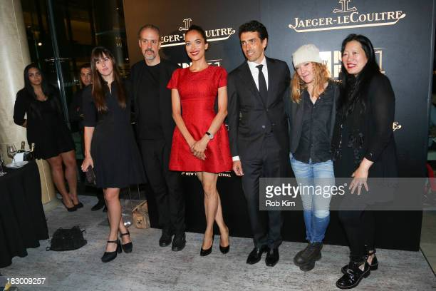 Ry RussoYoung guest Carmen Chaplin Philippe Bonay Andrea Arnold and Rose Kuo attend the Story Creation and the Artistic Process panel after party at...