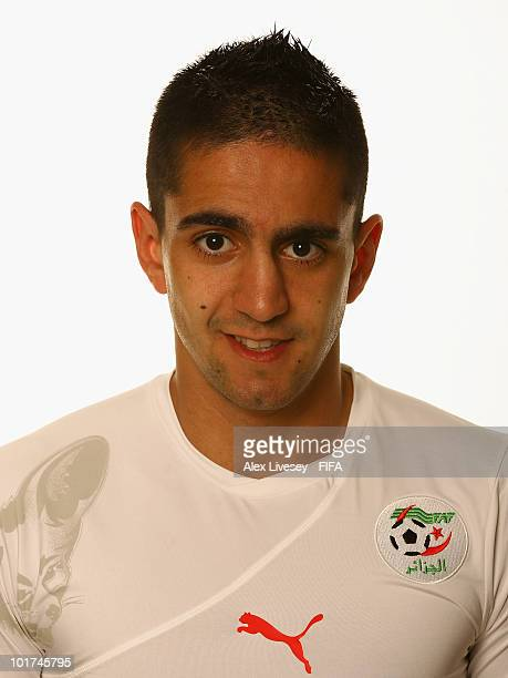 Ryad Boudebouz of Algeria poses during the official FIFA World Cup 2010 portrait session on June 7 2010 in Durban South Africa