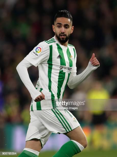Ryad Boudebouz of Real Betis during the La Liga Santander match between Real Betis Sevilla v Leganes at the Estadio Benito Villamarin on January 15...