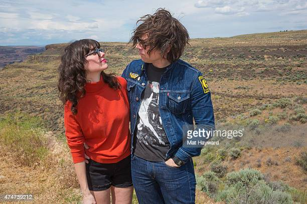 Ryan Adams and Natalie Prass pose for a photo during the Sasquatch Music Festival at The Gorge on May 25 2015 in George Washington