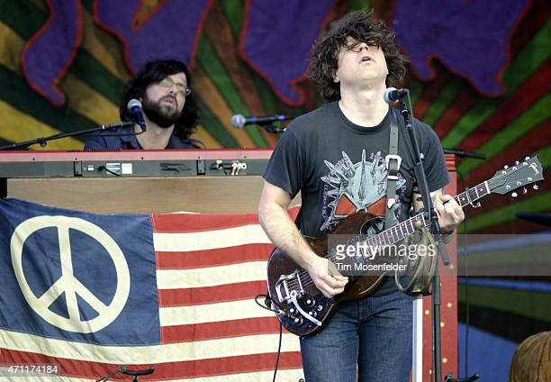 Ryan Adams performs during the 2015 New Orleans Jazz Heritage Festival at Fair Grounds Race Course on April 25 2015 in New Orleans Louisiana