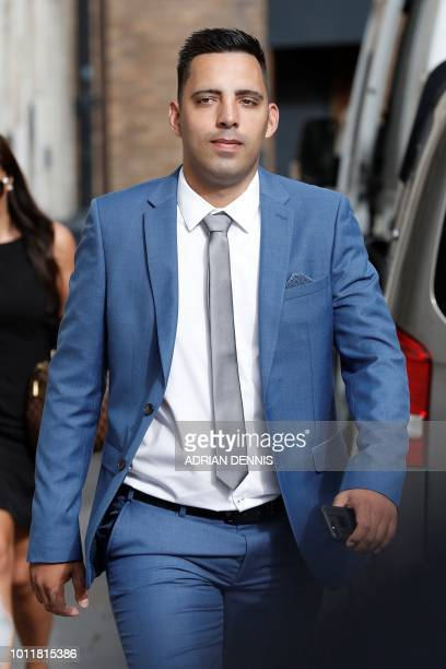 Ryan Ali arrives for the start of his trial at Bristol Crown Court in Bristol southwest England on August 6 2018 Ben Stokes's international career...