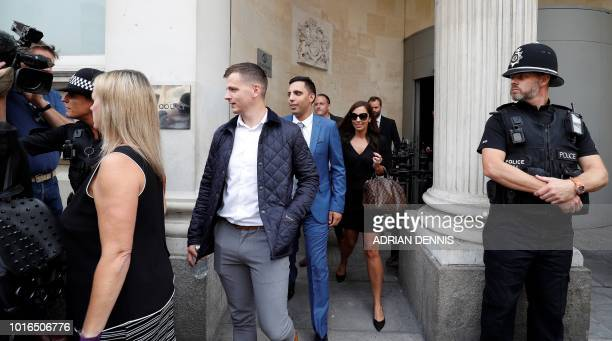 Ryan Ali leaves from Bristol Crown Court in Bristol southwest England on August 14 after he was found to be not guilty of affray England cricketer...