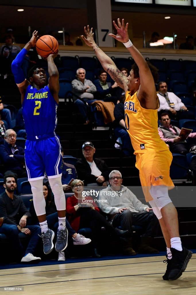 sports shoes 1bf41 6ed09 Ryan Allen of the Delaware Fightin Blue Hens shoots the ball ...