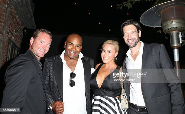 Ryan AMiller Glen Dellimore Shannon Dellimore and Bryan Massie attend the Accelerate4Change charity event presented by Dr Ben Talei Cinemoi on August...