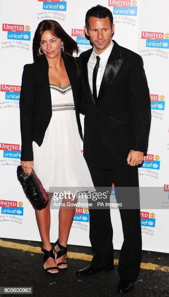 Ryan and Stacey Giggs arrive for the 'United for UNICEF' Gala Dinner at Old Trafford Manchester