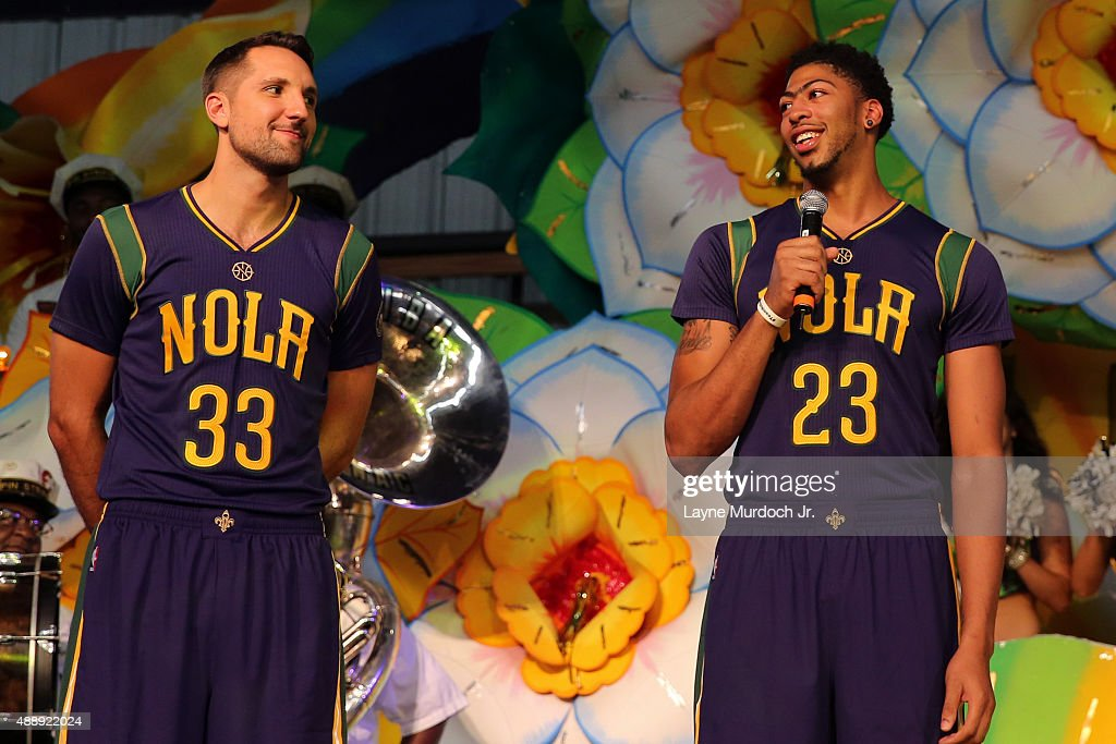 Ryan Anderson And Anthony Davis Of The New Orleans Pelicans