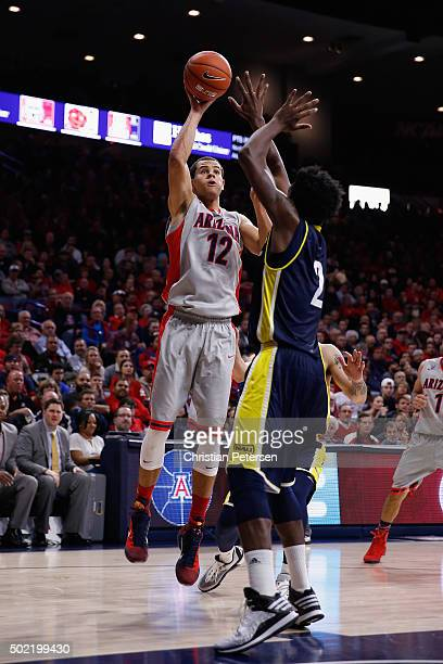Ryan Anderson of the Arizona Wildcats attempts a shot against the Northern Arizona Lumberjacks during the college basketball game at McKale Center on...