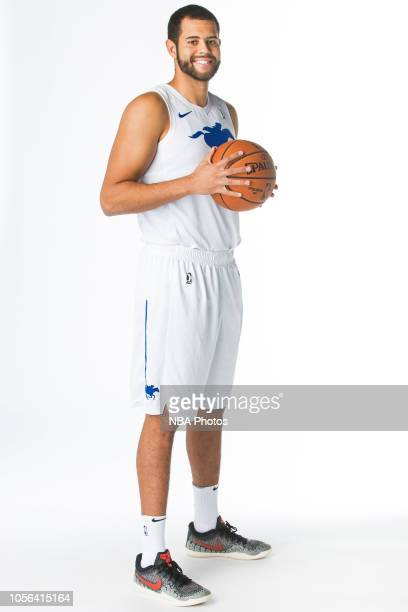 Ryan Anderson of the Delaware Blue Coats poses for a portrait during NBA GLeague media day on October 31 2018 at the Delaware Tech Collage in Newark...