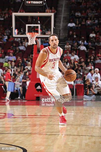 Ryan Anderson of the Houston Rockets brings the ball up court against the Shanghai Sharks during a preseason game on October 2 2016 at the Toyota...