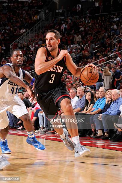 Ryan Anderson of the Houston Rockets drives to the basket during a game against the Dallas Mavericks on October 30 2016 at the Toyota Center in...