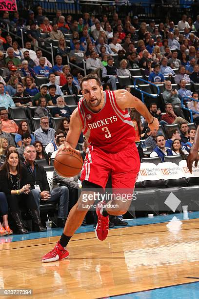 Ryan Anderson of the Houston Rockets drives to the basket during the game against the Oklahoma City Thunder on November 16 2016 at Chesapeake Energy...