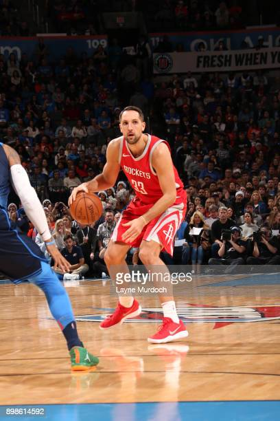 Ryan Anderson of the Houston Rockets handles the ball against the Oklahoma City Thunder on December 25 2017 at Chesapeake Energy Arena in Oklahoma...