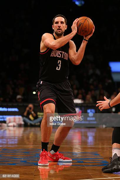Ryan Anderson of the Houston Rockets in action against the Brooklyn Nets at Barclays Center on January 15 2017 in Brooklyn borough of New York City...