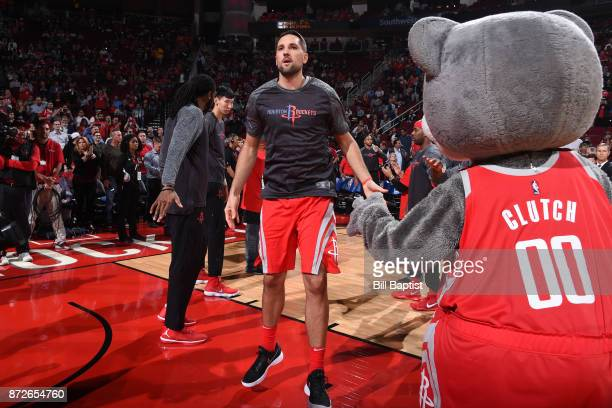 Ryan Anderson of the Houston Rockets is introduced before the game against the Cleveland Cavaliers on NOVEMBER 9 2017 at the Toyota Center in Houston...