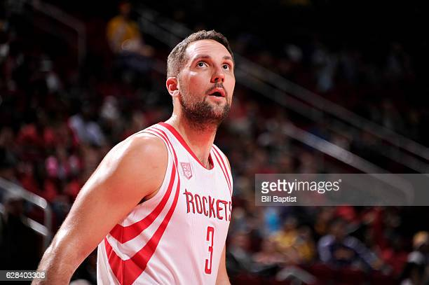 Ryan Anderson of the Houston Rockets looks on during the game against the Los Angeles Lakers on December 7 2016 at the Toyota Center in Houston Texas...