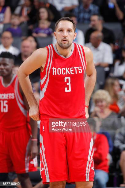 Ryan Anderson of the Houston Rockets looks on during the game against the Sacramento Kings on April 9 2017 at Golden 1 Center in Sacramento...