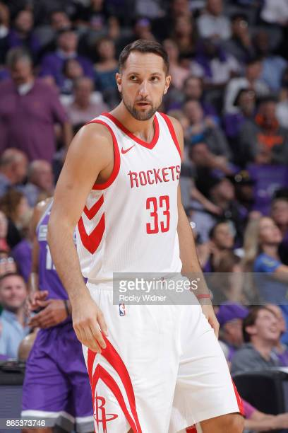 Ryan Anderson of the Houston Rockets looks on during the game against the Sacramento Kings on October 18 2017 at Golden 1 Center in Sacramento...