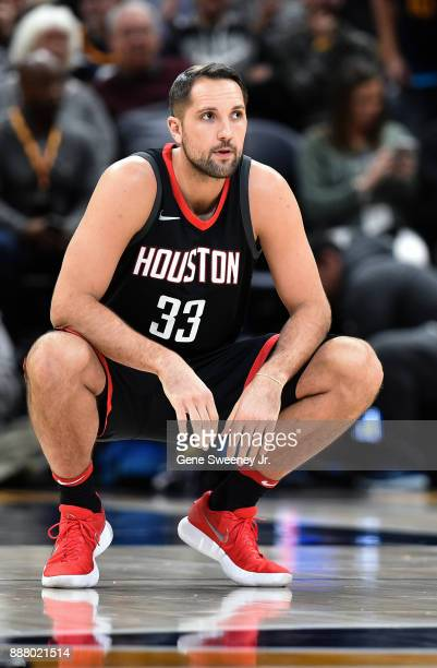 Ryan Anderson of the Houston Rockets looks on prior to the start of their game against the Utah Jazz at Vivint Smart Home Arena on December 7 2017 in...