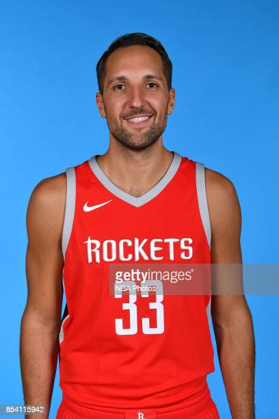 Ryan Anderson of the Houston Rockets poses for a head shot during Media Day on September 25 2017 at the Toyota Center in Houston Texas NOTE TO USER...