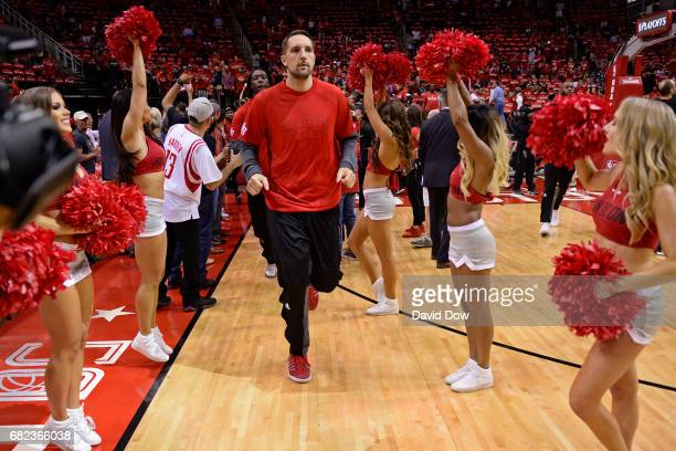 Ryan Anderson of the Houston Rockets runs out before before Game Six of the Western Conference Semifinals against the San Antonio Spurs during the...