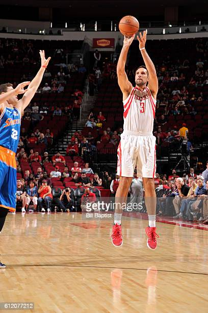 Ryan Anderson of the Houston Rockets shoots against the Shanghai Sharks during a preseason game on October 2 2016 at the Toyota Center in Houston...