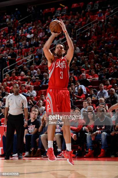 Ryan Anderson of the Houston Rockets shoots the ball against the Chicago Bulls during the game on February 3 2017 at the Toyota Center in Houston...