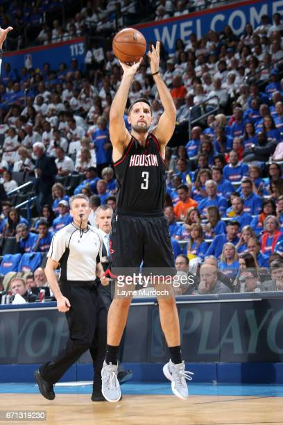 Ryan Anderson of the Houston Rockets shoots the ball during the game against the Oklahoma City Thunder during the Western Conference Quarterfinals of...