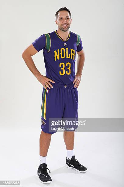 128c6293f6ad Ryan Anderson of the New Orleans Pelicans unveils the Mardi Grasthemed  Pride uniforms to be worn