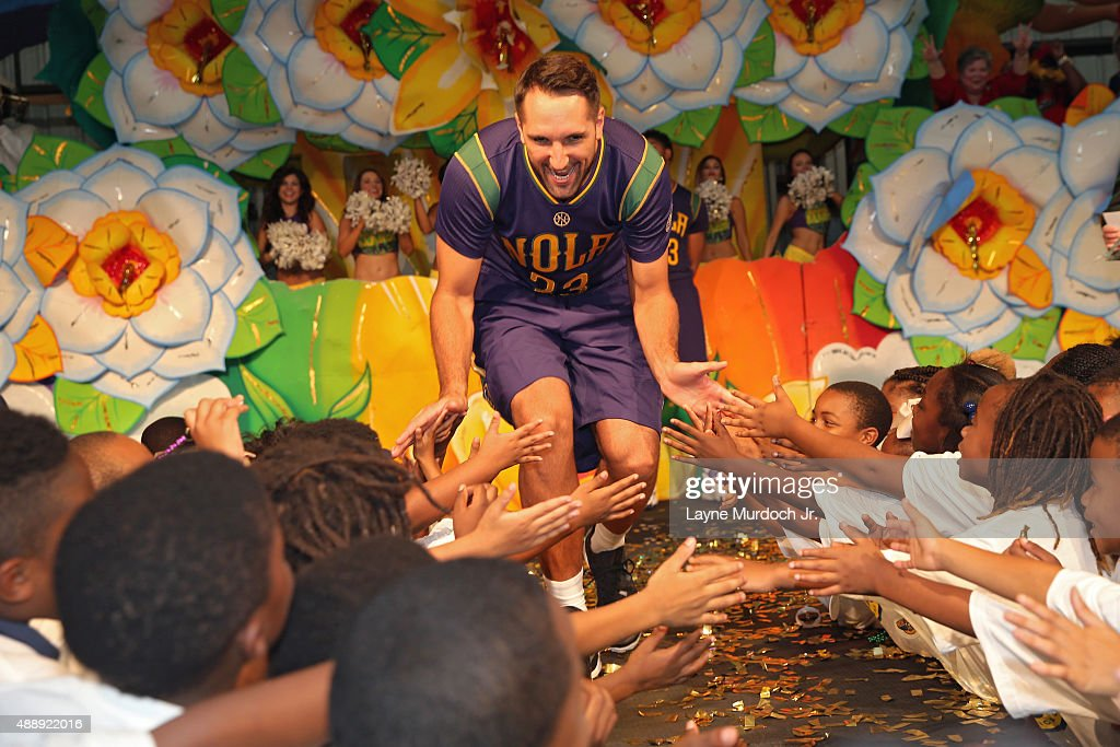 Ryan Anderson Of The New Orleans Pelicans Unveils Thei Mardi