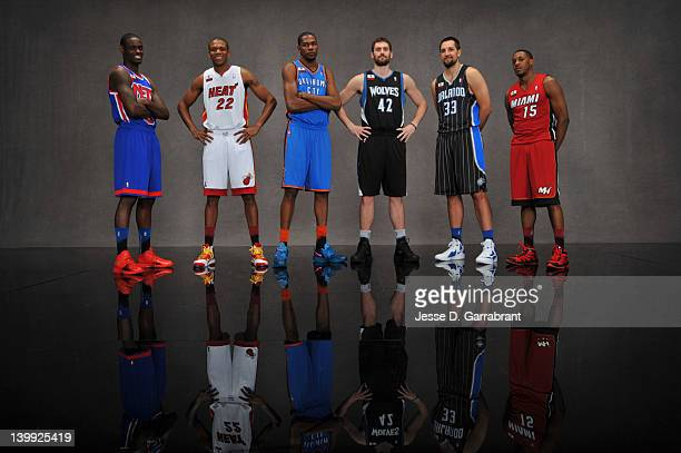Ryan Anderson of the Orlando MagicMario Chalmers of the Miami Heat Kevin Love of the Minnesota Timberwolves Kevin Durant of the Oklahoma City...
