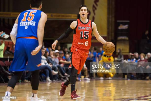 Ryan Arcidiacono of the Windy City Bulls handles the ball against the Canton Charge on December 15 2017 at the Canton Memorial Civic Center in Canton...