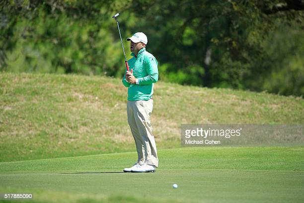 Ryan Armour reacts to his missed birdie putt on the sixth green during the final round of the Chitimacha Louisiana Open presented by NACHER held at...