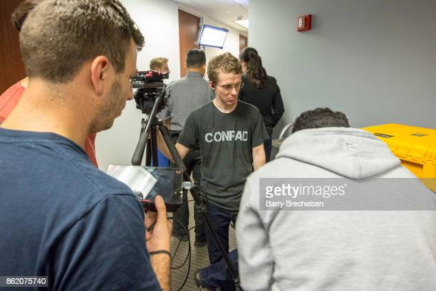 Ryan Atkins and crew on location for 'Conrad' a new crime drama that focuses on women empowerment and gender equality on October 14 2017 in Chicago...