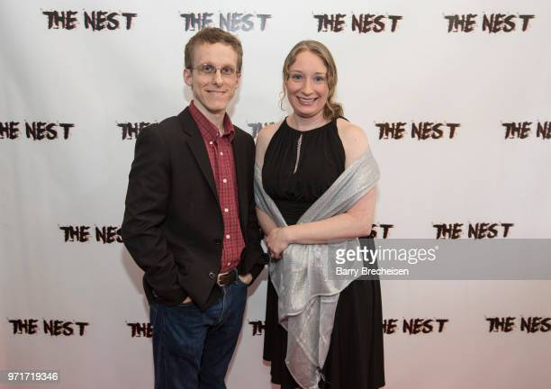 Ryan Atkins and Jessica Lawsen during 'The Nest' screening on June 10 2018 in Lockport Illinois
