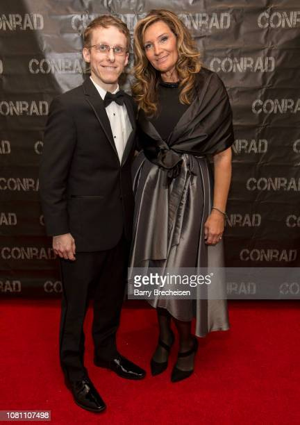 Ryan Atkins and Kelli Tidmore during the Conrad series premier screening at the Gene Siskel Film Center on December 2 2018 in Chicago Illinois