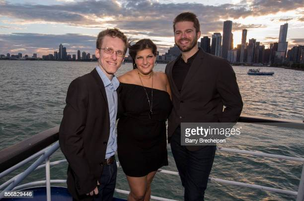 Ryan Atkins Jennifer Karum and Brian Barber at the 'Conrad' series party on the Spirit of Chicago boat event showcasing the new crime drama that...