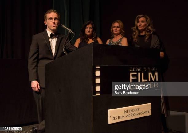 Ryan Atkins Jennifer Karum Kristin HumDell and Kelli Tidmore during the Conrad series premier screening at the Gene Siskel Film Center on December 2...