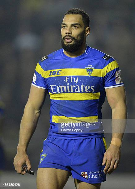 Ryan Atkins of Warrington Wolves during the First Utility Super League match between Warrington Wolves and Leeds Rhinos at The Halliwell Jones...