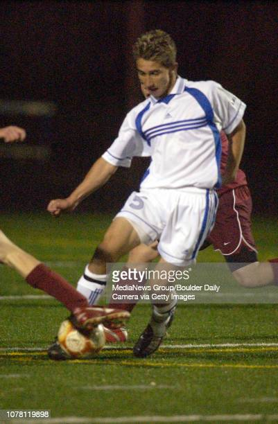 Ryan Aweida Broomfield High School takes control of the ball during play against Windsor High School on Friday at Elizabeth Kennedy Stadium